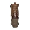 Hnědé kožené kozačky na stabilním podpatku bata, hnědá, 794-4618 - 15