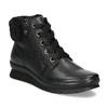 Dámská černá kožená kotníčková obuv comfit, černá, 594-6645 - 13