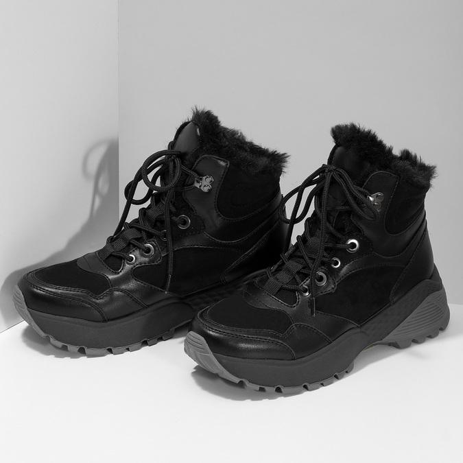 Černá dámská kotníčková zimní obuv bata, černá, 591-6624 - 16