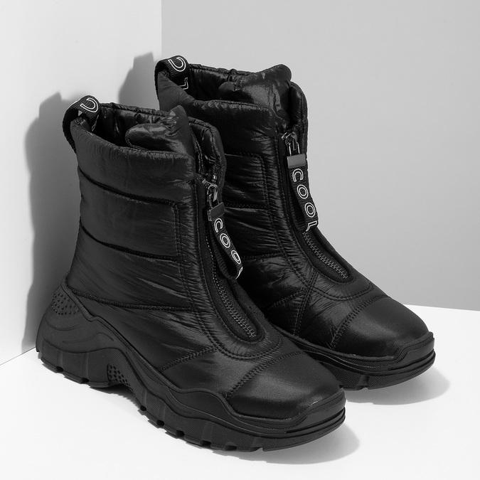 Černé dámské sněhule se zipem bata, černá, 591-6650 - 26