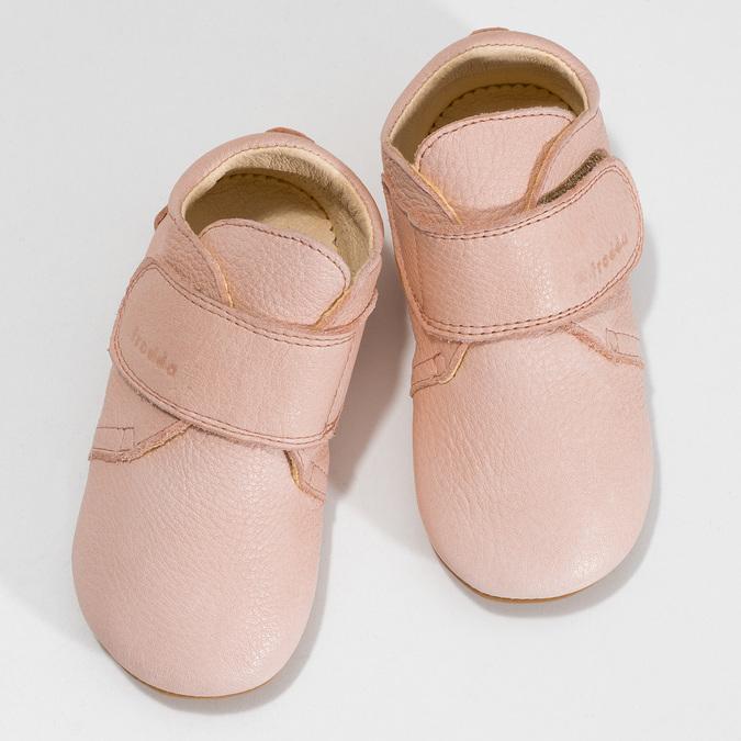 Růžová dětská kožená kotníčková obuv froddo, růžová, 124-5605 - 16