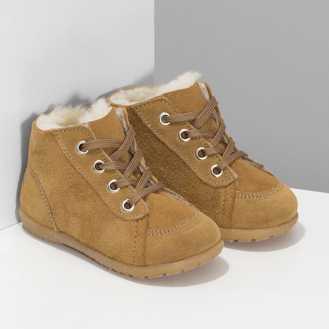 Dětská kožená zimní obuv se zateplením richter, hnědá, 123-8613 - 26