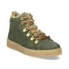 Kožená dětská zelená kotníčková obuv mini-b, zelená, 423-7608 - 13