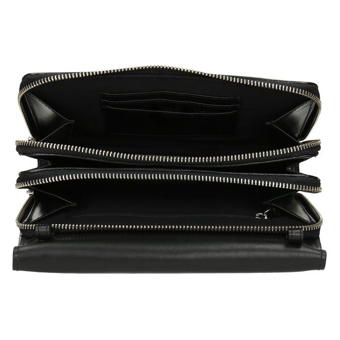 Černá kožená dámská Crossbody kabelka royal-republiq, černá, 964-6346 - 15