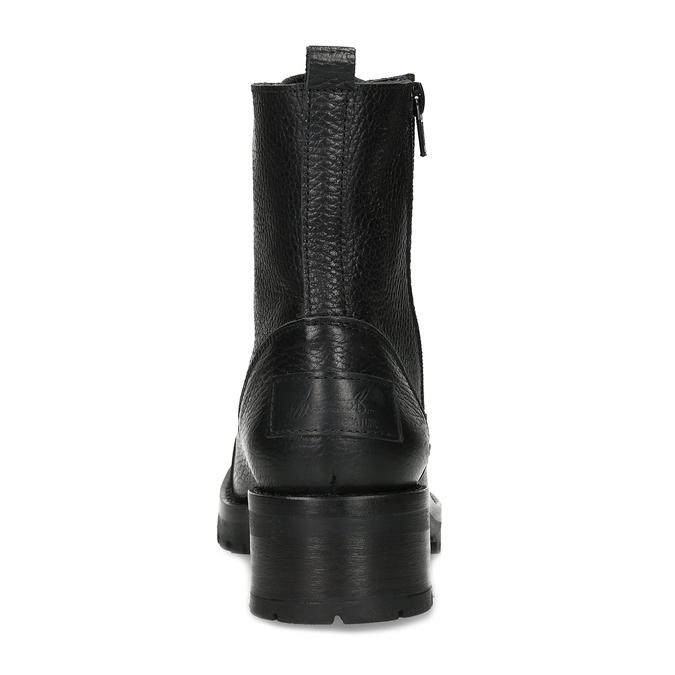 Černá dámská kožená šněrovací obuv bata, černá, 594-6618 - 15