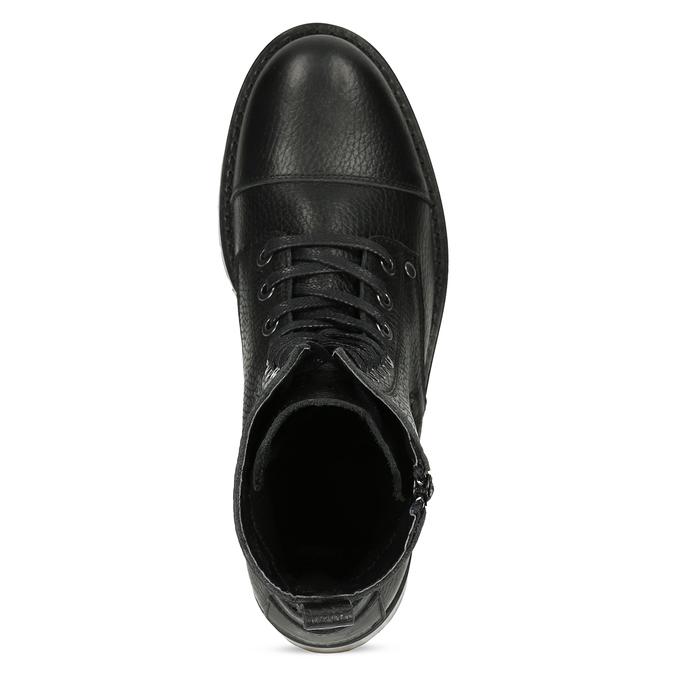 Černá dámská kožená šněrovací obuv bata, černá, 594-6618 - 17