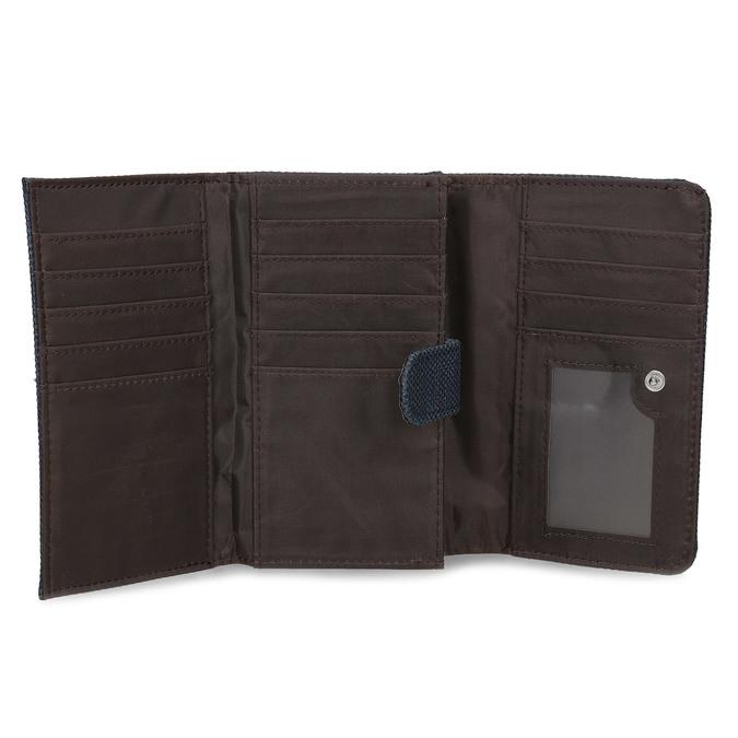 Modrá dámská peněženka bata, modrá, 941-9617 - 15