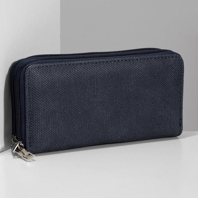 Dámská modrá peněženka na zip bata, modrá, 941-9618 - 17