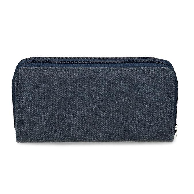 Dámská modrá peněženka na zip bata, modrá, 941-9618 - 16