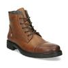 Hnědá pánská kožená kotníčková obuv bata, hnědá, 896-3764 - 13