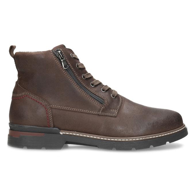 Pánská hnědá kožená kotníčková obuv bata, hnědá, 896-4601 - 19