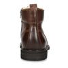 Kožená hnědá kotníčková obuv se zateplením bata, hnědá, 896-3749 - 15
