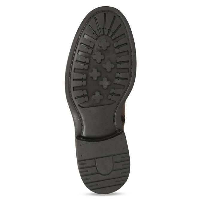 Kožená hnědá kotníčková obuv se zateplením bata, hnědá, 896-3749 - 18