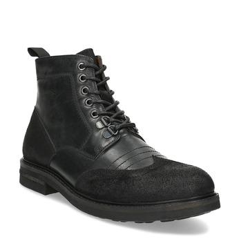 Kotníčková pánská kožená obuv bata, černá, 896-6768 - 13