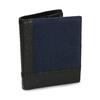 Kožená černá peněženka s modrou částí bata, černá, 944-9622 - 13