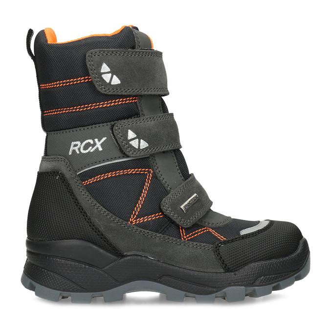 Dětská kožená zimní obuv na suché zipy mini-b, šedá, 299-2623 - 19