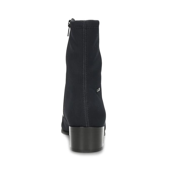 Dámské černé ponožkové kotníčkové kozačky hogl, černá, 699-6102 - 15