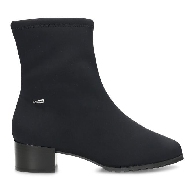 Dámské černé ponožkové kotníčkové kozačky hogl, černá, 699-6102 - 19