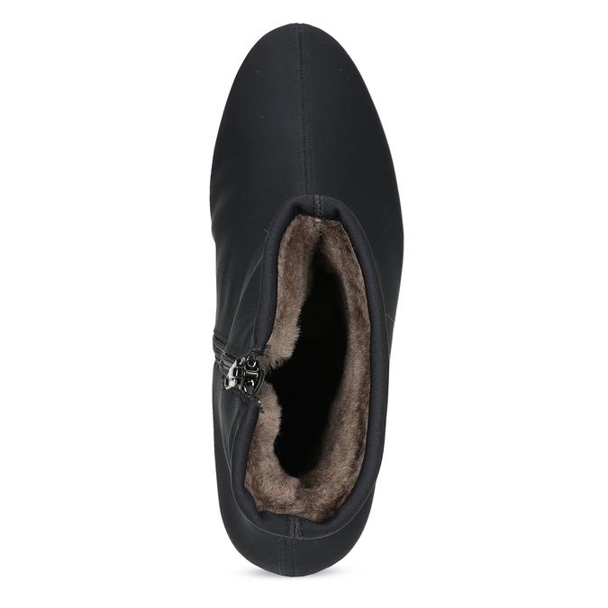 Dámské černé ponožkové kotníčkové kozačky hogl, černá, 699-6102 - 17