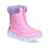 Růžové dětské sněhule s fialovým kožíškem skechers, růžová, 399-5111 - 13