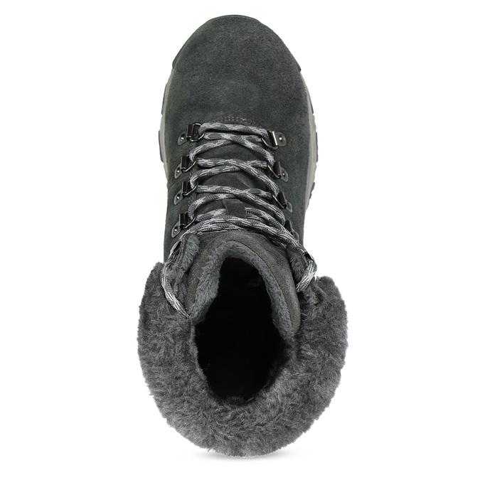 Dámská šedá zimní obuv z broušené kůže skechers, šedá, 593-2110 - 17