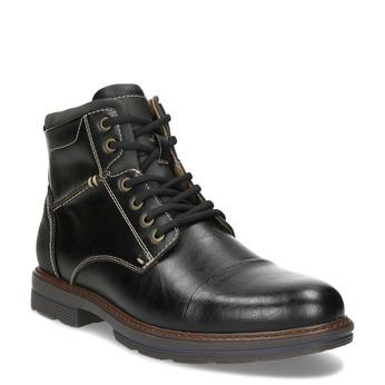 Pánská černá kotníčková obuv s prošitím bata-red-label, černá, 891-6610 - 13