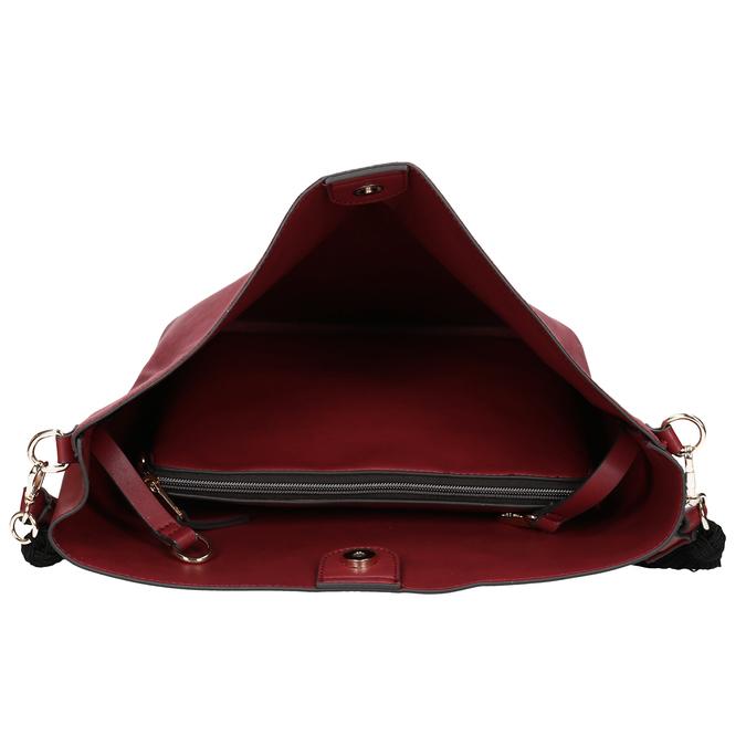 Červená dámská kabelka s popruhem bata, červená, 961-5816 - 17