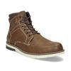 Hnědá pánská kotníčková obuv s prošitím bata-red-label, hnědá, 891-3609 - 13