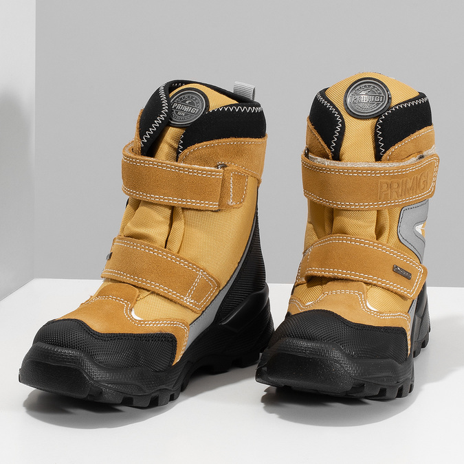 Žlutá dětské zimní obuv na suché zipy primigi, žlutá, 499-8617 - 16