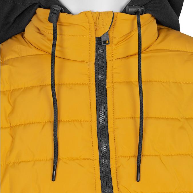 Žlutá pánská bunda s černou kapucí bata, žlutá, 979-8317 - 16