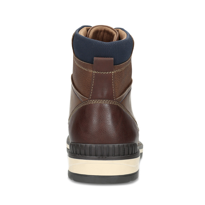 Hnědá pánská kotníčková obuv s prošitím bata-red-label, hnědá, 891-4606 - 15