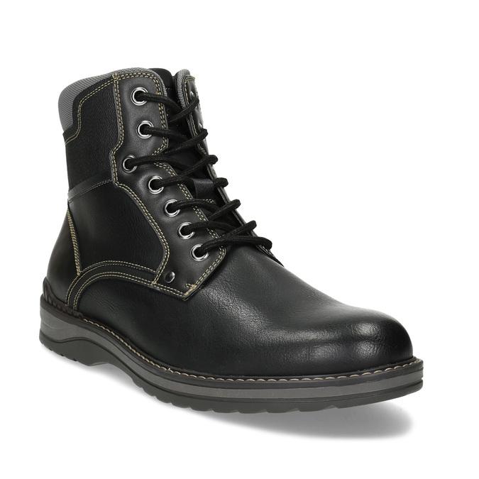 Pánská černá kotníčková obuv s prošitím bata-red-label, černá, 891-6606 - 13