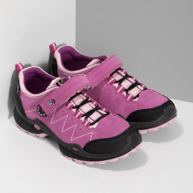 kožené dívčí tenisky v outdoorovém stylu mini-b, růžová, 423-5648 - 26