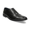 Pánské černé kožené Oxford polobotky bata, černá, 824-6671 - 13
