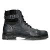 Kožená pánská kotníčková obuv s přezkou bata, černá, 896-6600 - 19