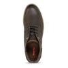 Kotníčkové pánské hnědé tenisky bata-red-label, hnědá, 821-4668 - 17