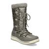 Metalické dámské sněhule s úpletem bata, bronzová, 599-8634 - 13