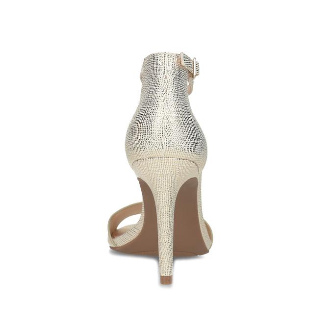Zlaté sandály na jehlovém podpatku bata-red-label, zlatá, 721-8621 - 15