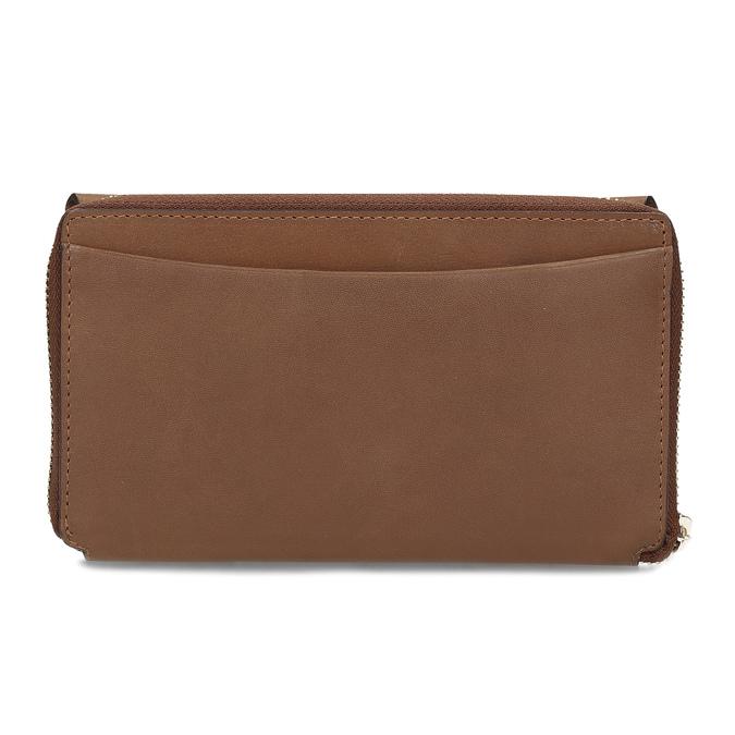 Dámská hnědá kožená peněženka bata, hnědá, 944-3616 - 16