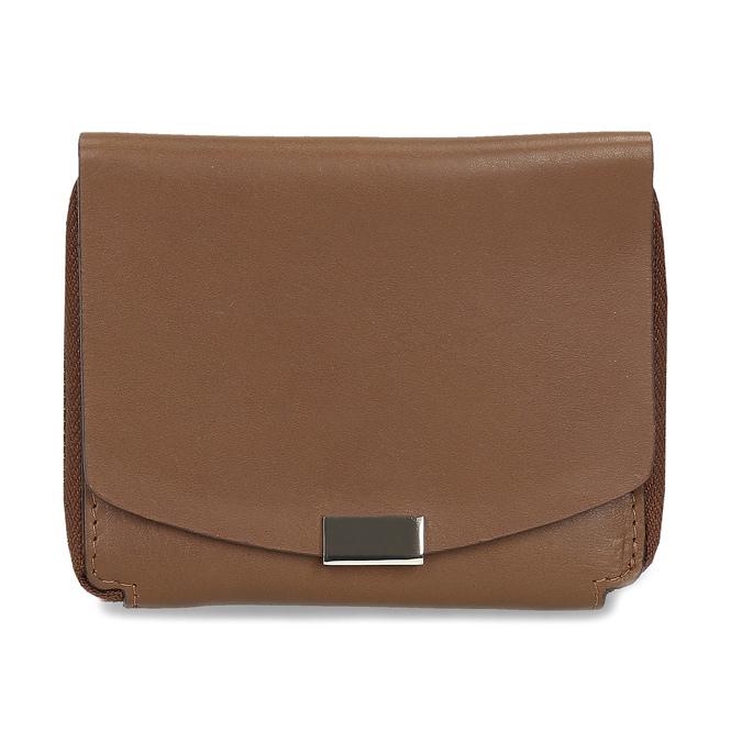 Hnědá dámská kožená peněženka bata, hnědá, 944-3614 - 26