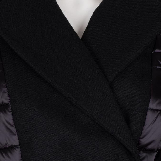 Prošívaná zimní bunda v kimono střihu bata, černá, 979-6198 - 16