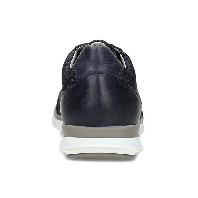 Tmavě modré pánské ležérní tenisky bata, modrá, 846-9605 - 15