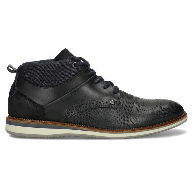Kožená pánská černá kotníčková obuv bata, černá, 826-6603 - 19
