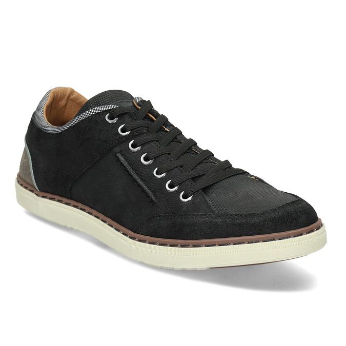 Černé pánské kožené ležérní tenisky bata, černá, 846-6606 - 13