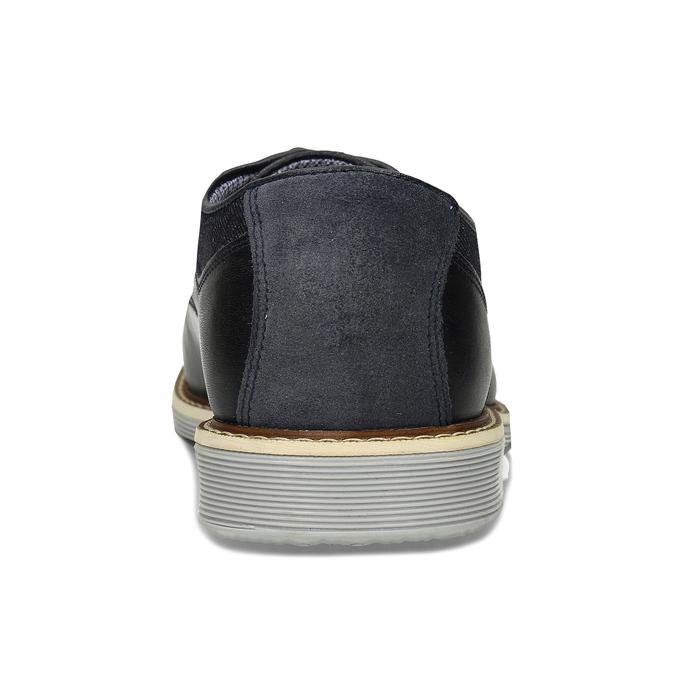 Tmavě modré pánské kožené polobotky bata, modrá, 826-9607 - 15