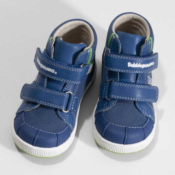 Modré dětské kotníčkové tenisky bubblegummers, modrá, 111-0633 - 16