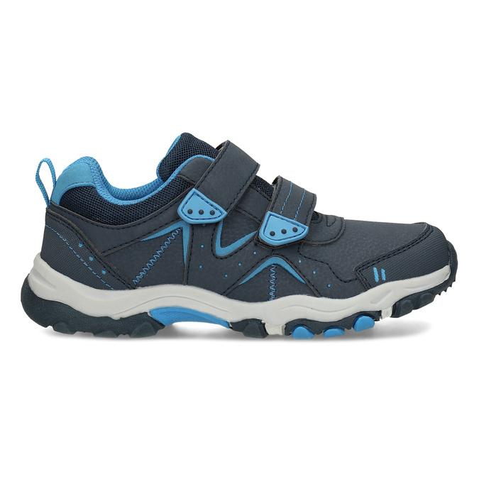 Modré dětské tenisky na suché zipy mini-b, modrá, 411-9617 - 19