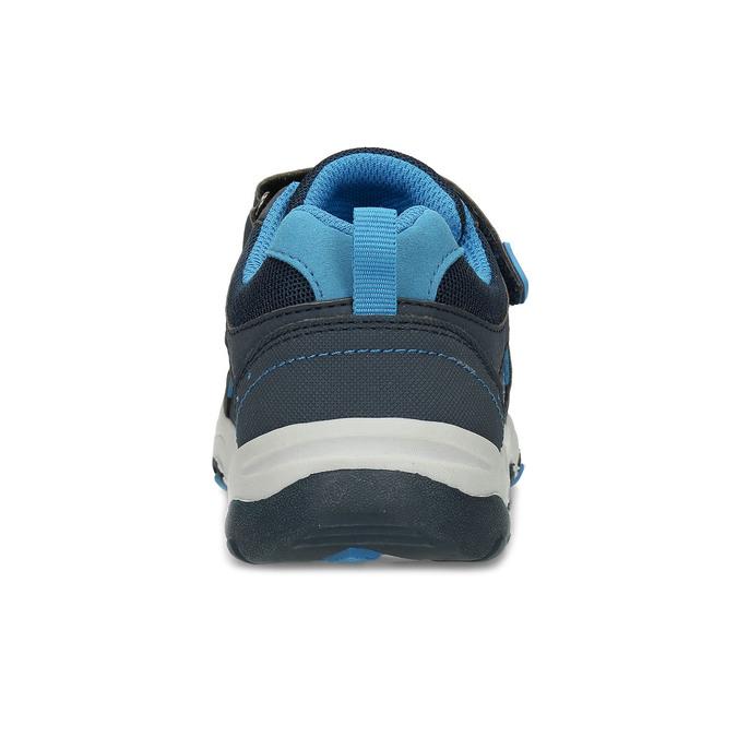 Modré dětské tenisky na suché zipy mini-b, modrá, 411-9617 - 15