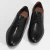 Pánské černé kožené polobotky s perforací bata, černá, 826-6617 - 16