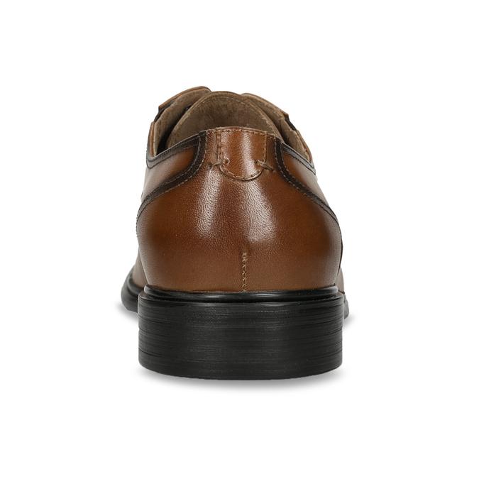 Hnědé pánské kožené polobotky v Derby stylu bata, hnědá, 826-3665 - 15